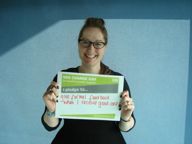 Our Regional Liaison Adviser for East of England and Thames Valley, Jo Wren, and her NHS Change Day pledge