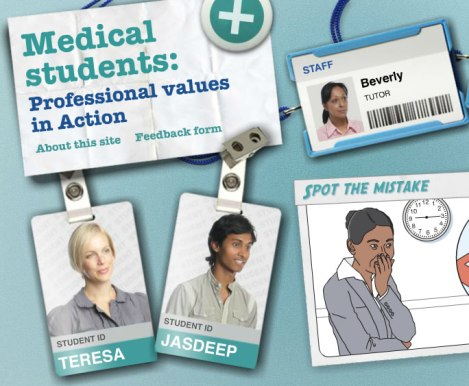 Medical students  Professional values in Action