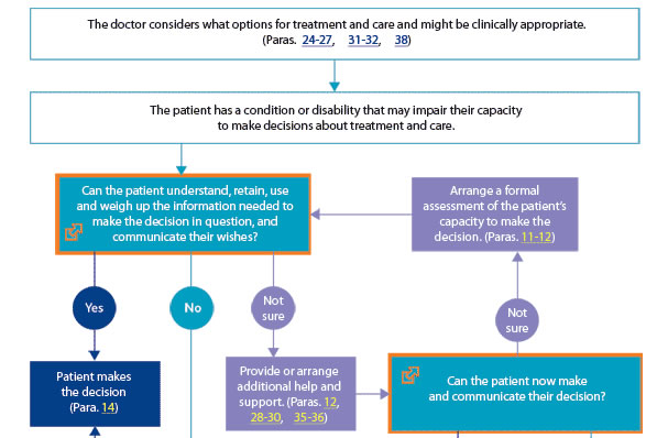 GMC   End of life care  Flow chart for decision making when patients may lack capacity