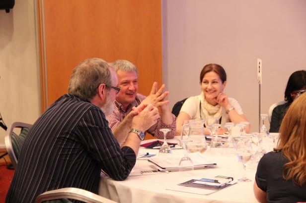 Newcastle delegates table discussion