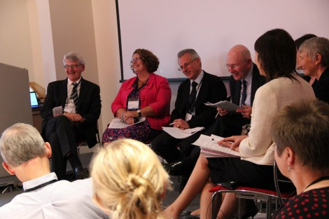 Peter Lees on the Medical Professionalism Matters panel in Bristol with Professor Maureen Baker (RCGP), Dr Caroline Gamlin (NHS South West), Helen Morgan (University Hospitals Bristol NHS Foundation trust), Jo Osorio (Healthwatch Swindon), Dr Emma-Kate Reed (University Hospitals Bristol NHS Foundation Trust)