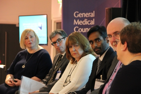 Panellists discussing the teaching of ethics