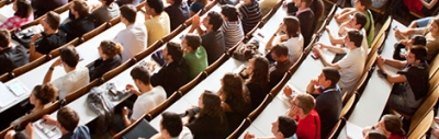Full lecture theatre at a unviersity