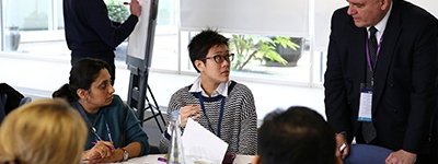 Guests enjoying an open discussion during a workshop