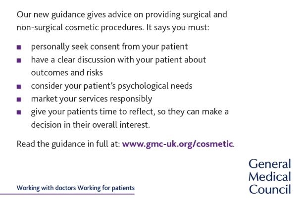 summary points from cosmetic practice guidance