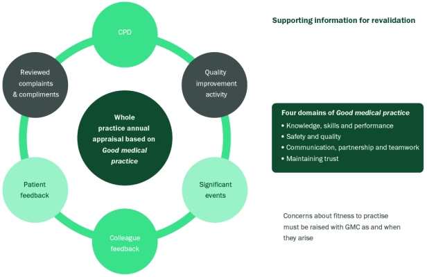 Supporting information for revalidation, Taking forward revalidation, Fig. 2, p. 17
