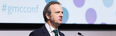 Terence Stephenson gives a speech at GMC conference 2016