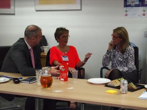 GMC staff talk to attendees