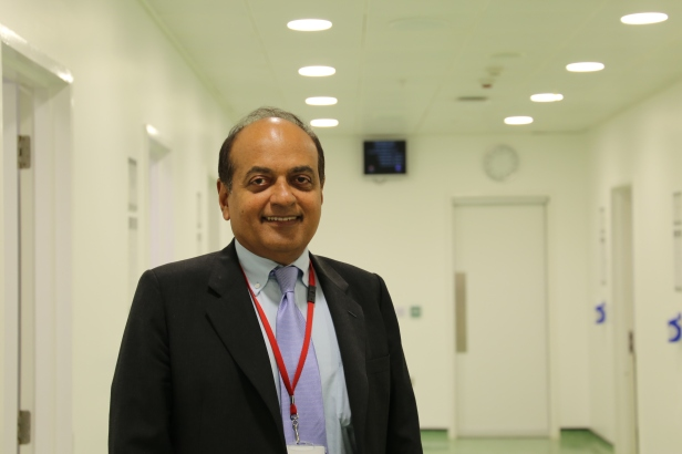 Dr George Kurian at the PLAB clinical assessment centre