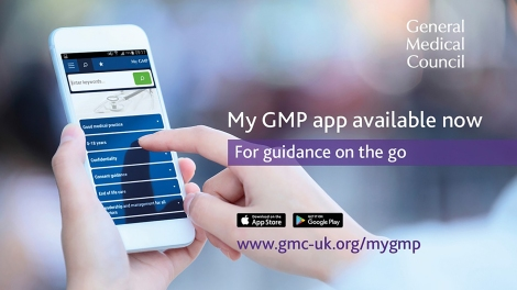 My GMP app advert