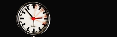 clock face with black background
