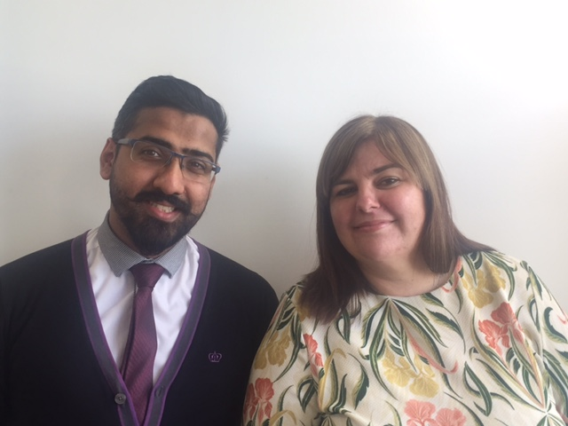 Zain Ahmed and Michelle Shiels, tribunal assistants at the MPTS